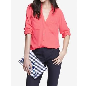 Express Portofino Electric Pink blouse